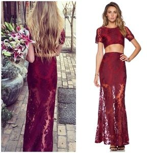 SAMANTHA ONLY: FOR LOVE & LEMONS LACE MAXI SKIRT